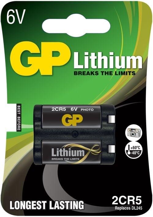 [tag] GP 2CR5 6 volt Lithium batteri Batterier Lithium