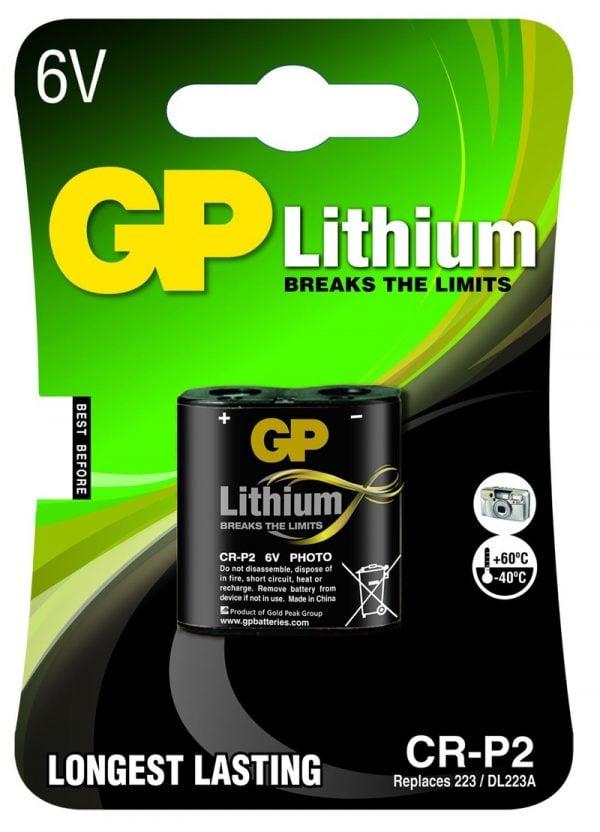 [tag] GP CR-P2 6 volt Lithium batteri Batterier Lithium