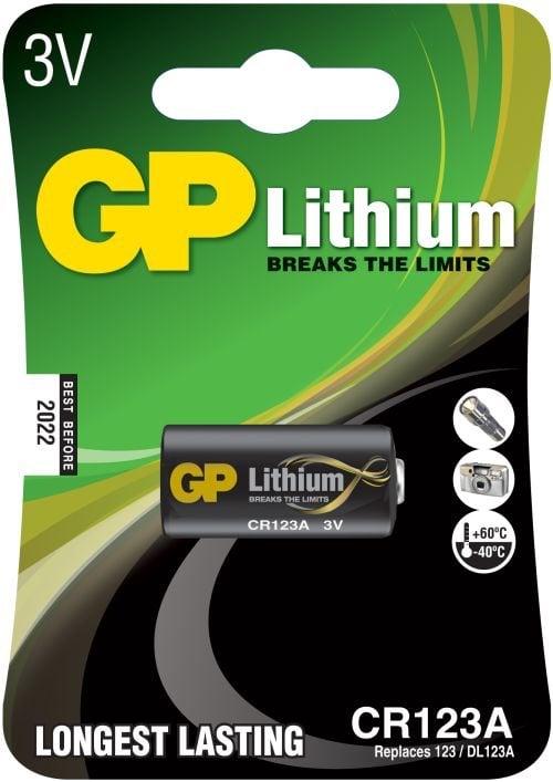 [tag] GP CR123A Foto Lithium batteri 3 Volt Batterier Lithium