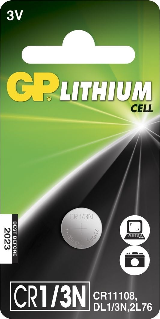 [tag] GP CR 1/3N 3 Volt Lithium batteri Foto
