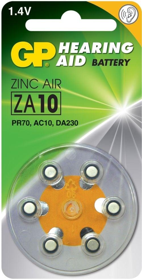 [tag] GP ZA10 1,4 V batterier Høreapparat