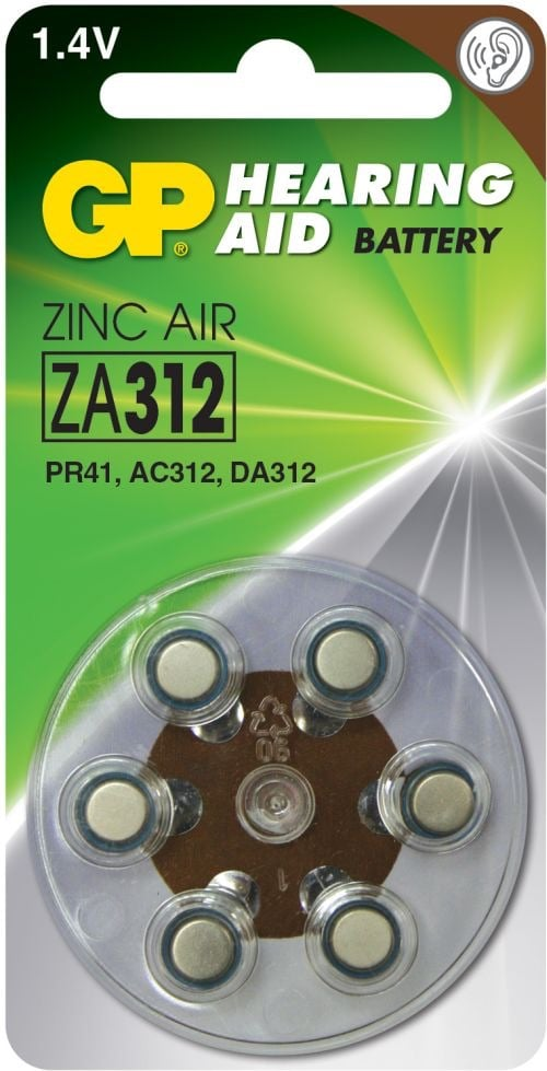 [tag] GP ZA312 1,4 V batterier Høreapparat