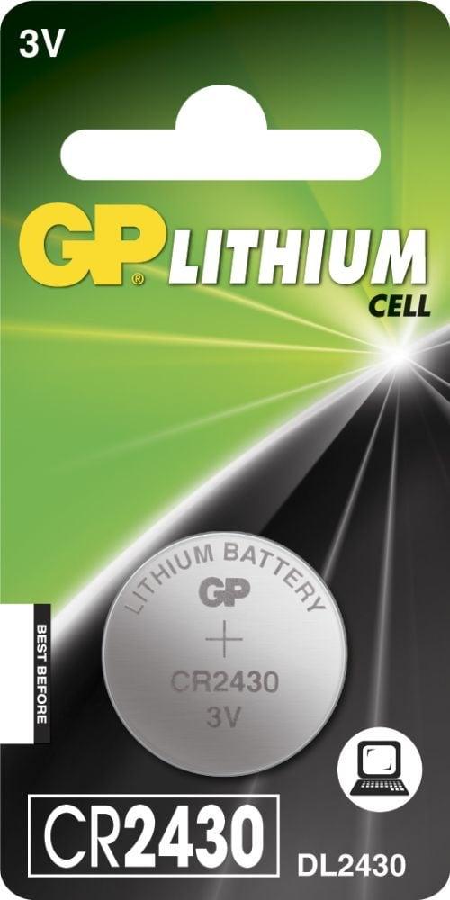 [tag] CR 2430 3 Volt Lithium batteri Knapbatterier (3V)
