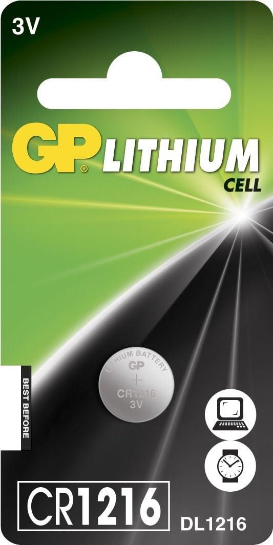 [tag] CR 1216 C1 3 V Lithium batteri Knapbatterier (3V)