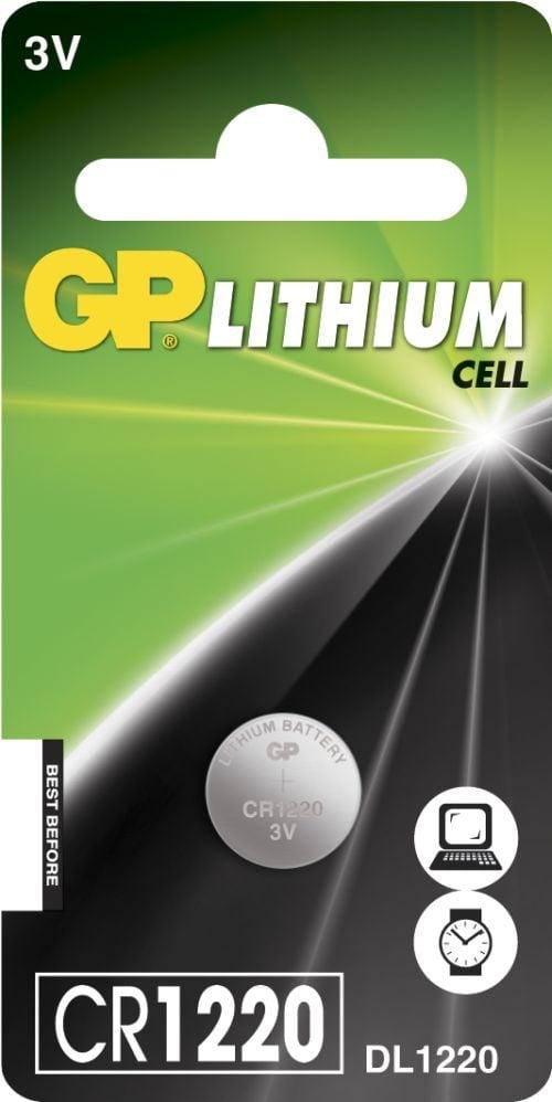 [tag] CR 1220 3 Volt Lithium batteri Knapbatterier (3V)