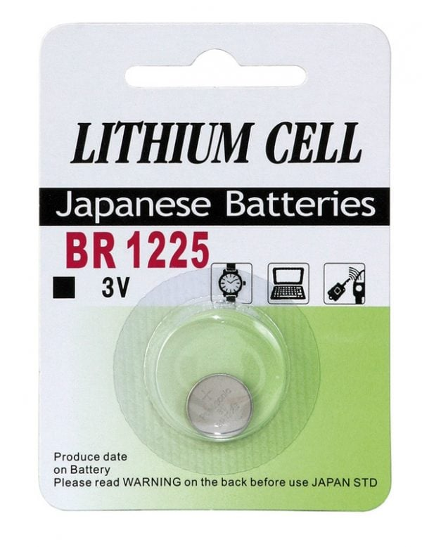 [tag] BR 1225 3 Volt Lithium batteri Knapbatterier (3V)