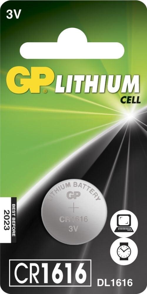 [tag] CR 1616 3 Volt Lithium batteri Knapbatterier (3V)