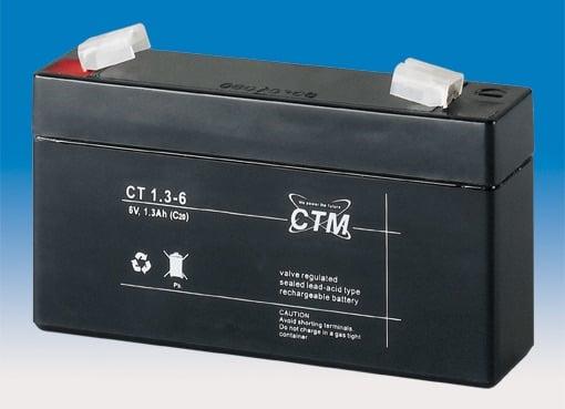 [tag] 6 volt 1,3Ah. bly batteri 6 volts blybatterier