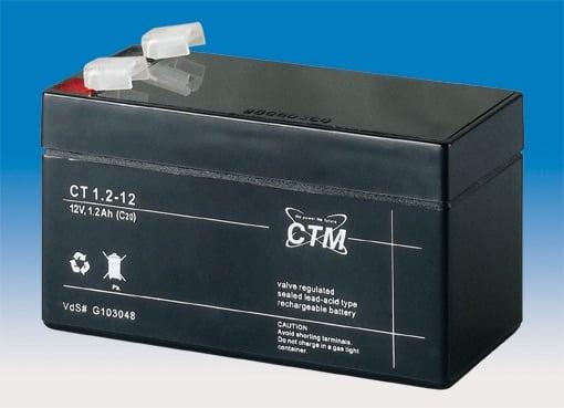 [tag] 12 volt 1,2 Ah bly batteri 12 volts blybatterier