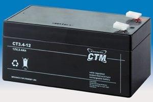 [tag] 12 volt 3,2 Ah. bly batteri 12 volts blybatterier