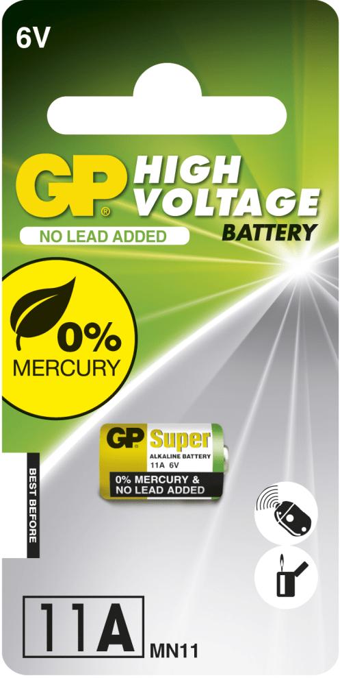 [tag] GP 11A -FC1 Alkaline batteri 6 volt batterier