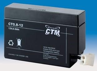 [tag] 12 volt 0,8 Ah. bly batteri 12 volts blybatterier