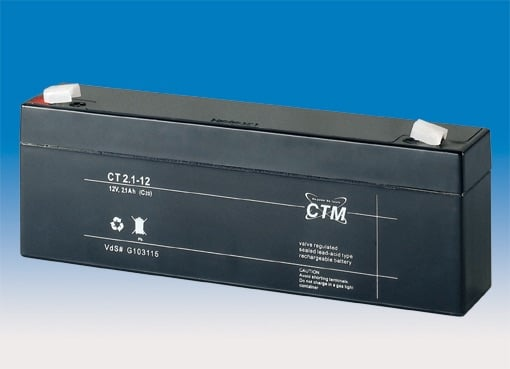 [tag] 12 volt 2,1 Ah. bly batteri 12 volts blybatterier