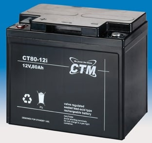 [tag] 12 volt 80 Ah. bly batteri 12 volts blybatterier