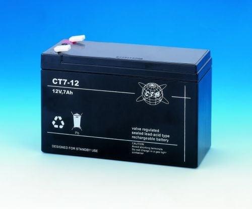 [tag] 12 volt 7 Ah. bly batteri 12 volts blybatterier