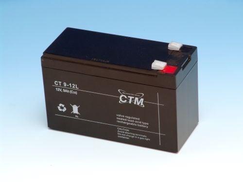 [tag] 12 volt 9 Ah. bly batteri 12 volts blybatterier
