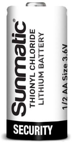 [tag] 3,6 volt 1/2AA Lithium batteri 1200mAh Batterier Lithium