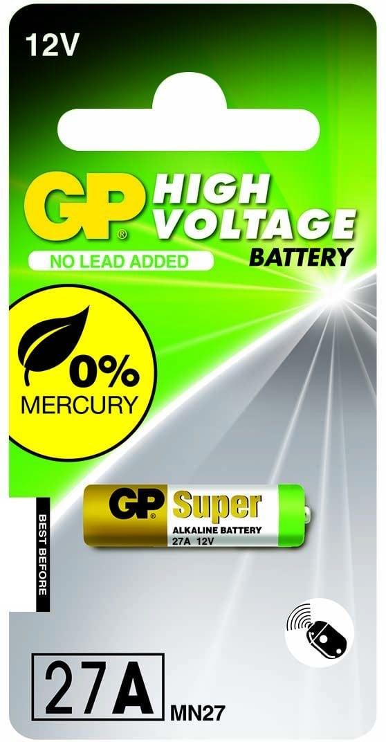 [tag] GP 27A 12 volt Alkaline batteri 12 volt batterier
