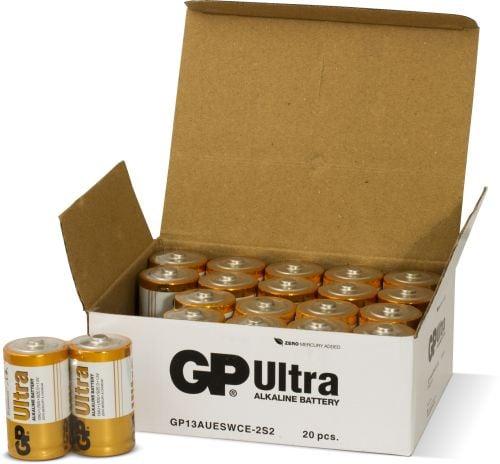 [tag] 20 stk. GP D Ultra batterier / LR20 D batterier