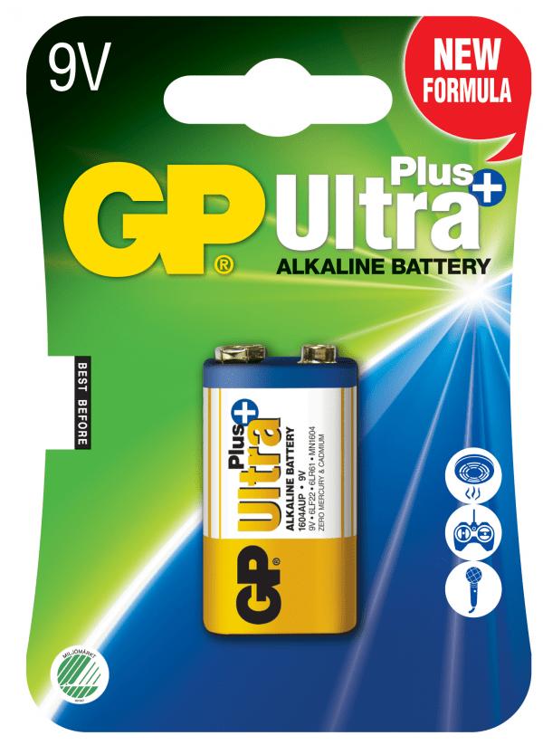 [tag] GP 9 V Ultra Plus batteri 9V batterier