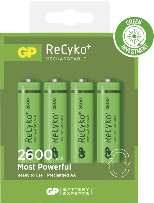[tag] Genopladelige AA ReCyko batterier   2600mAh AA AAA C D 9V