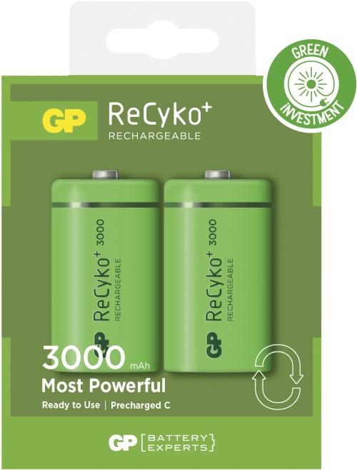 [tag] Genopladelige C Recyko batterier / LR14 3000mAh AA AAA C D 9V