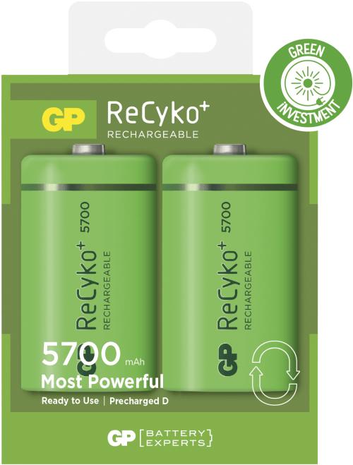 [tag] Genopladelige D Recyko batterier / LR20 5700mAh AA AAA C D 9V