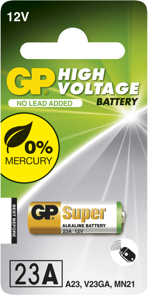 [tag] GP 23A 12 volt Alkaline batteri 12 volt batterier