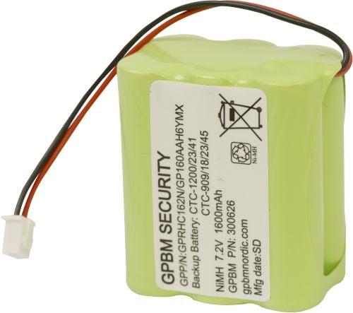 [tag] GP160AAH6YMX batteri, Passer til alarmsystem CTC-1200/23/41 CTC-909/18/23/45 Alarm batterier
