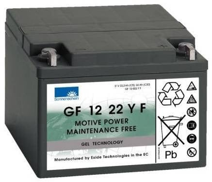 [tag] 12 volt 24 Ah. batteri til golfvogn Golfvogn batterier