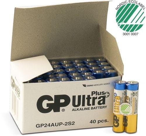 [tag] 40 stk. GP AAA Ultra Plus batterier / LR03 / LR3 AAA batterier
