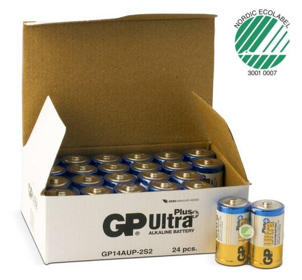 [tag] 24 stk. GP C Ultra Plus batterier / LR14 C batterier