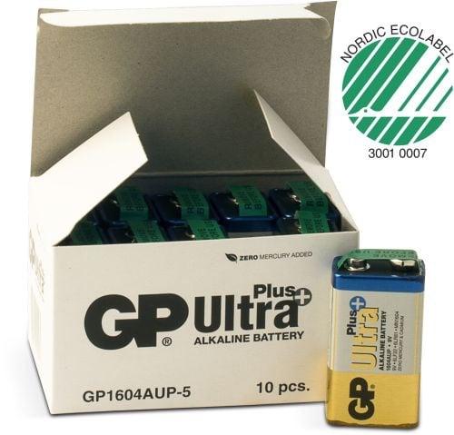 [tag] 10 stk.GP 9 V Ultra Plus batteri 9V batterier