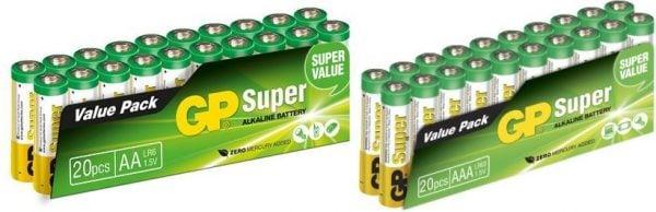 [tag] Familiepakke 20 stk. AA + 20 stk. AAA AAA batterier