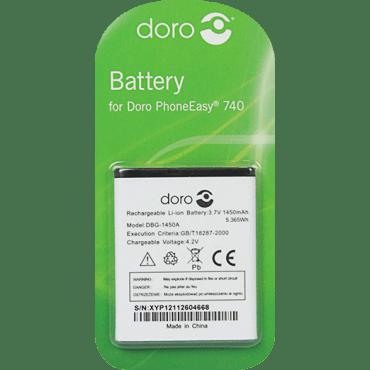 [tag] DBG-1450A Batteri til bl.a. Doro PhoneEasy 740 (Originalt) Doro batterier