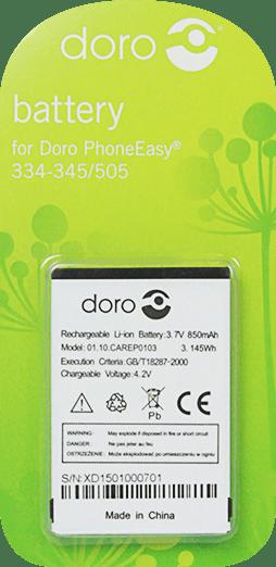 [tag] Doro batteri til bl.a. HandlePlus 334 / Phoneeasy 505 (Original) Doro batterier