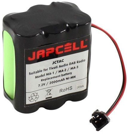 [tag] Tivoli Audio batteri 7,2V / 2000mAh AA AAA C D 9V