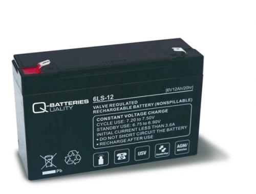 [tag] 6 volt 12Ah. bly batteri 6 volts blybatterier