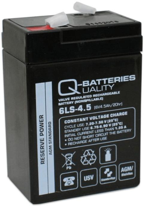 [tag] 6 volt 4,5 Ah. bly batteri 6 volts blybatterier