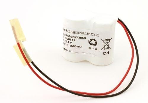 [tag] Batteripakke til nødbelysning 2,4volt 1600mAh. Cd Nødbelysning batterier