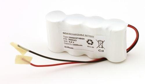 [tag] Batteripakke til nødbelysning 4,8volt 1600mAh. Cd Nødbelysning batterier