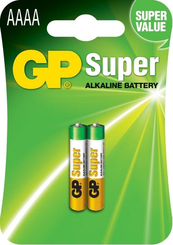[tag] GP AAAA Super Alkaline batterier / LR61 AAAA batterier