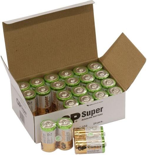 [tag] 24 stk. GP C Super Alkaline batterier / LR14 C batterier