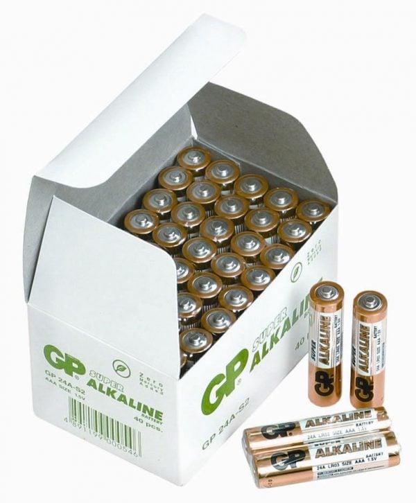 [tag] 40 stk.GP AAA Super Alkaline batterier / LR03 AAA batterier