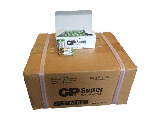 [tag] 1.000 stk. AA GP Super Alkaline batterier / LR6 / R6 AA batterier