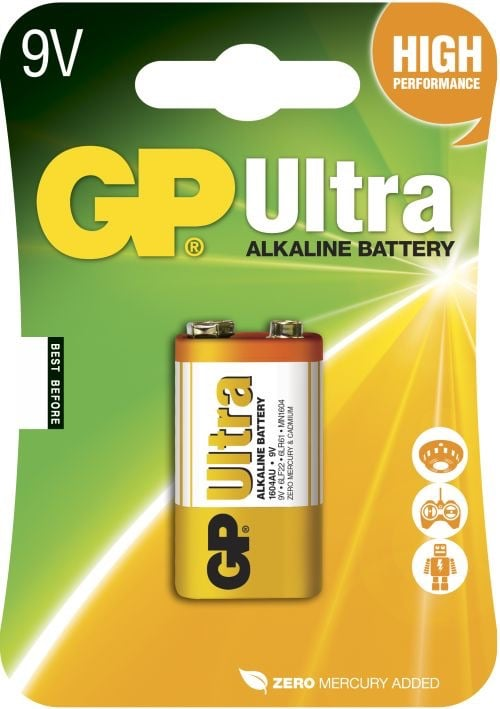 [tag] GP 9 V Ultra batteri 9V batterier
