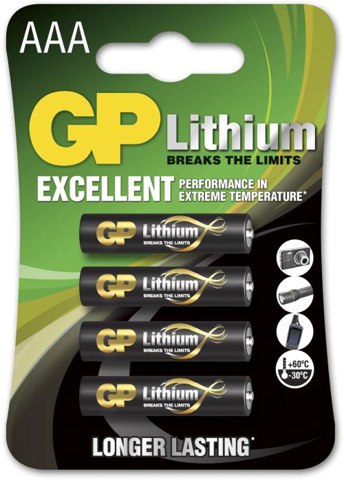 [tag] 4 stk. Lithium AAA 1,5 volt Batterier Lithium