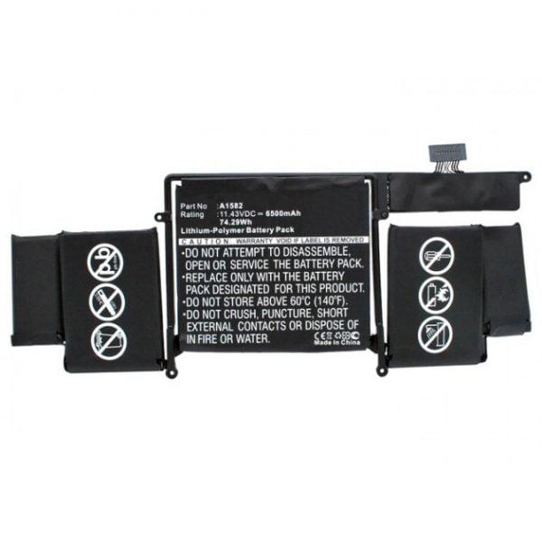 [tag] A1582 / batteri til Apple MacBook Pro 13 Retina 2015 (Kompatibelt) 6500mAh Batterier Bærbar