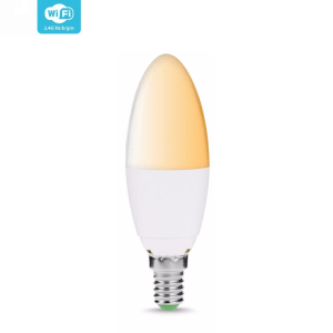 [tag] Smart Home WiFi lyspære Hvid (E14) WiFi Lyspærer