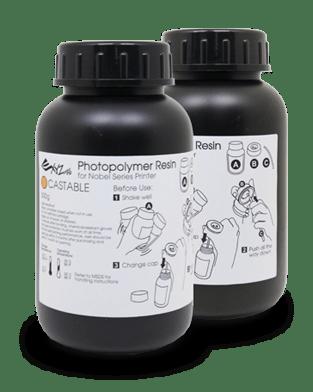 [tag] XYZprinting UV Curable Resin Castable 2 x 500 ml Bottles Resin